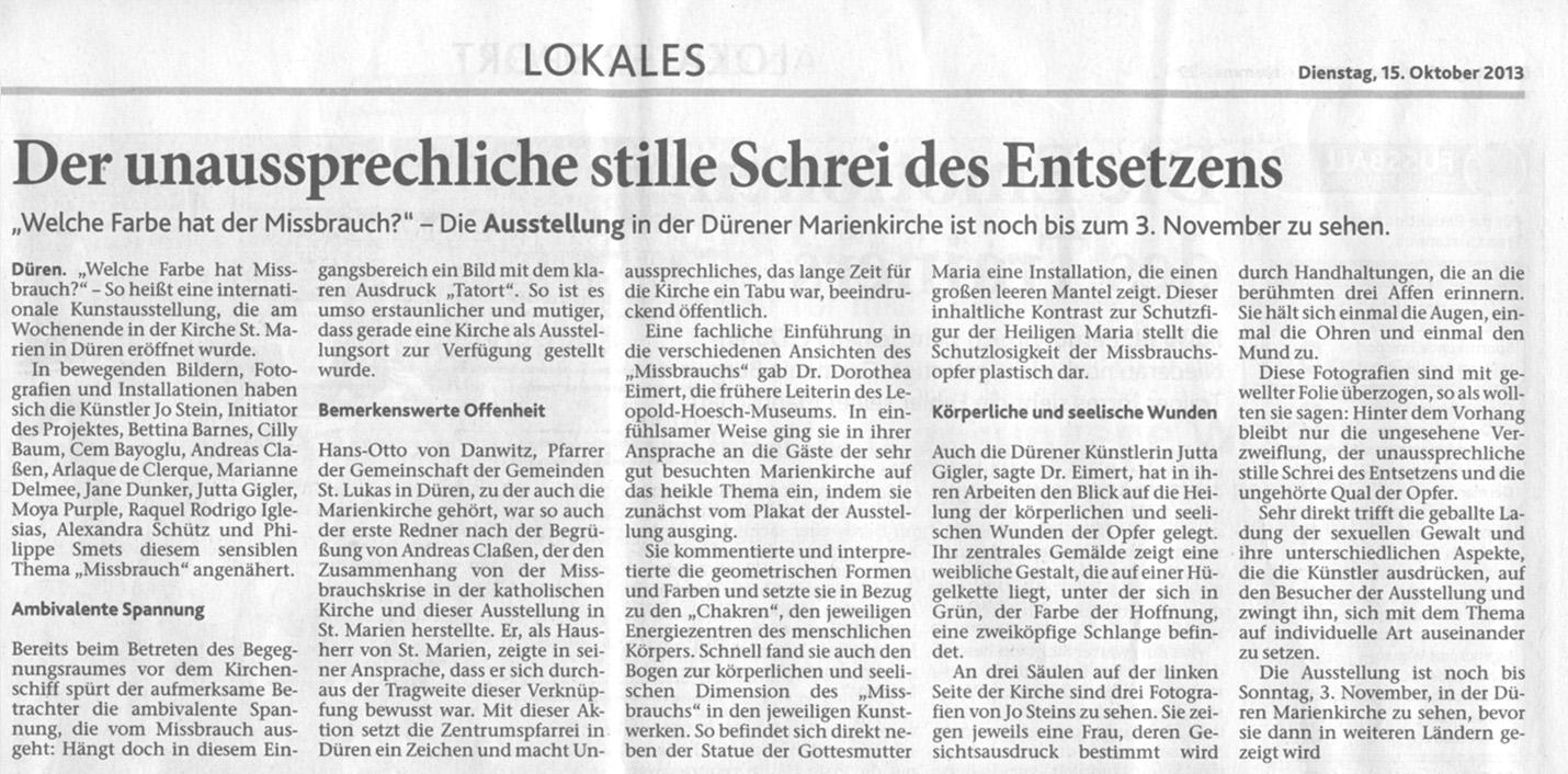 Dürener Zeitung 15.10.2013